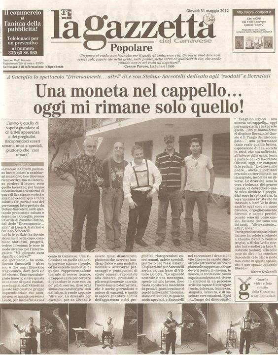 """da """"La Gazzetta del Canavese"""" del 31 maggio, parlano di noi..."""